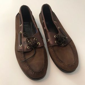 Sperry Brown Leather Boat Shoes 13